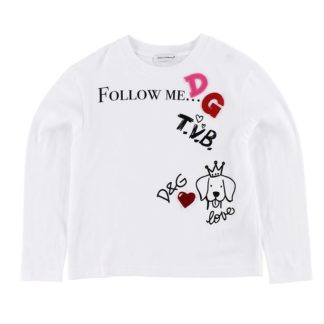 Dolce & Gabbana Bluse - Hvid m. Print/Patches