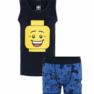 Lego Wear Undertøj - Navy/Blå m. Legohoved
