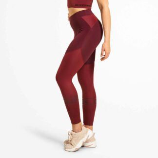 BETTER BODIES - CHRYSTIE SHINY TIGHTS DEEP MAROON